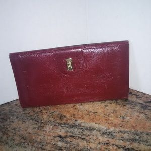Vintage Celine Long Wallet Burgundy Brown